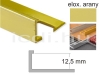 Eloxált arany Alu L élvédő profil 12 mm/ 100cm hosszú