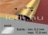 Perfekt System ezüst színű alu burkolatváltó SY2 36mm/270cm